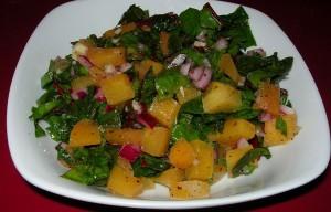 Red Chard and Rutabaga Salad